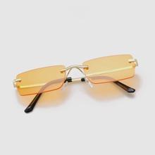 Gafas de sol de hombres de marco cuadrado sin montura