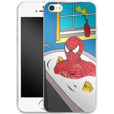 Apple iPhone 5 Silikon Handyhuelle - Bathing Hero von Mark Ashkenazi