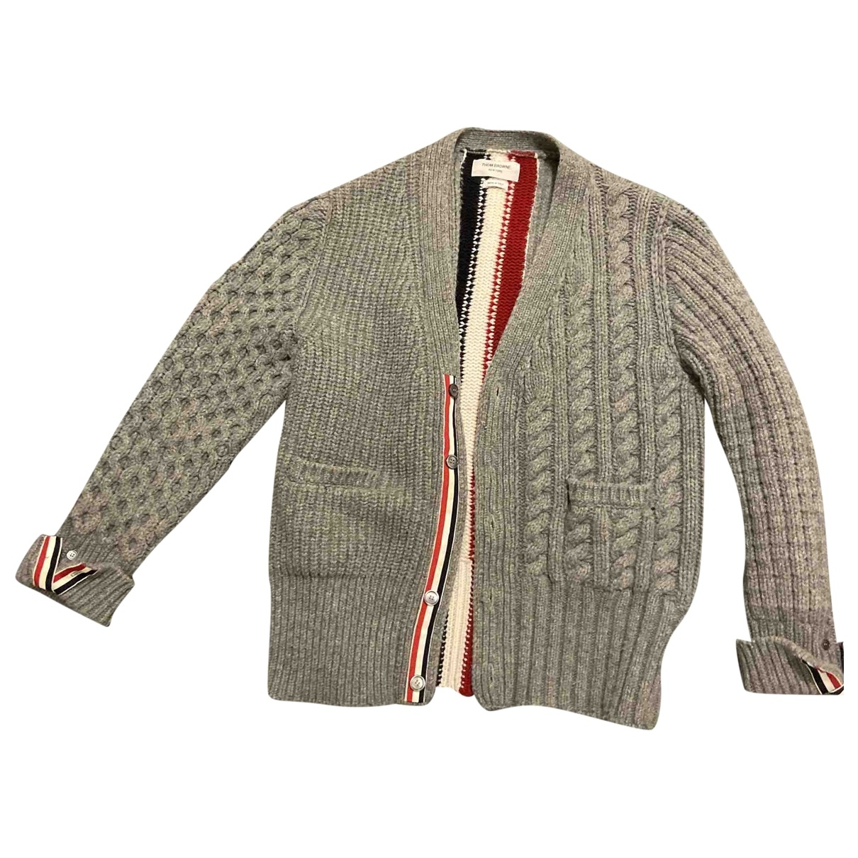 Thom Browne \N Pullover.Westen.Sweatshirts  in  Grau Baumwolle