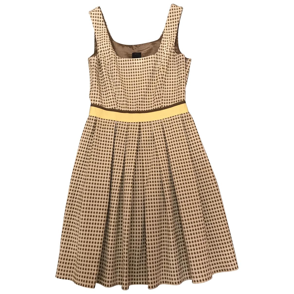Pinko \N Kleid in  Gelb Baumwolle