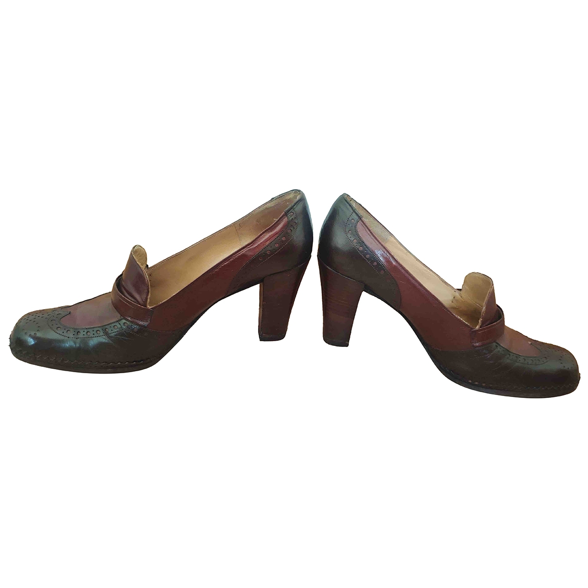 Dior \N Brown Leather Heels for Women 36.5 EU