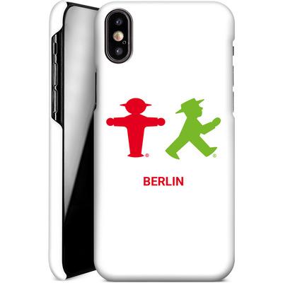 Apple iPhone XS Smartphone Huelle - Green and Red von AMPELMANN