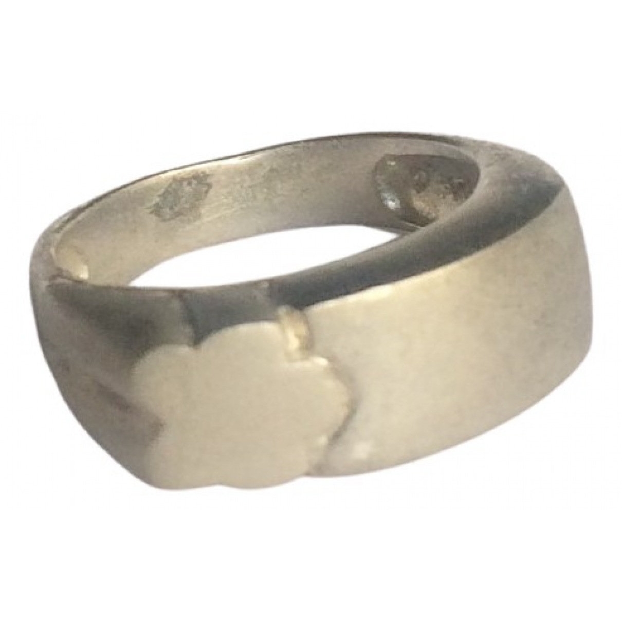 Non Signé / Unsigned Motifs Floraux Silver Silver ring for Women 56 EU