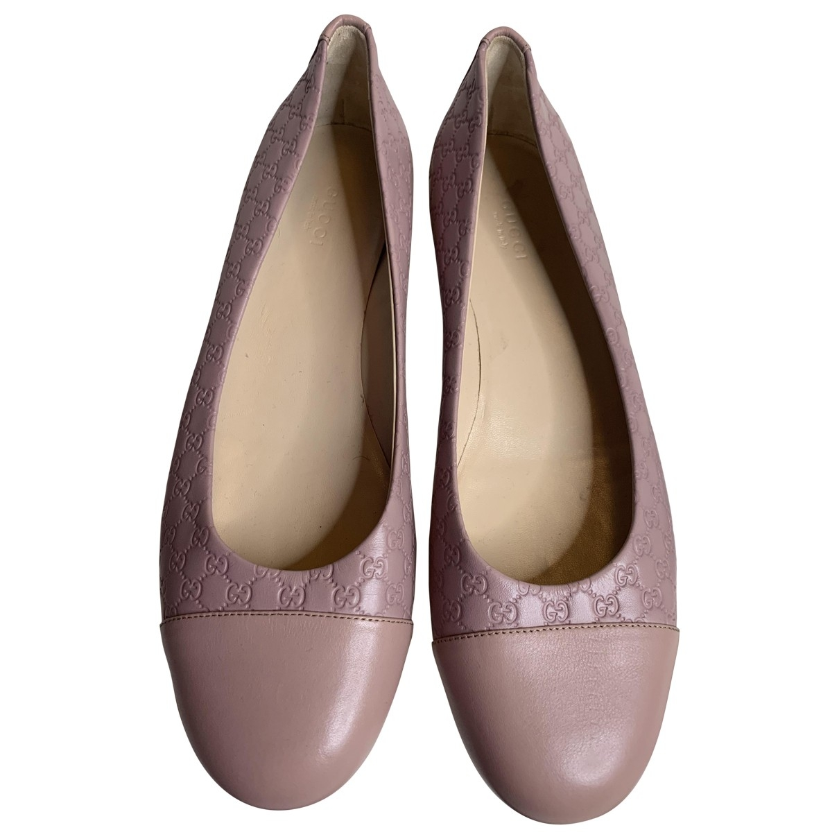 Gucci \N Pink Leather Ballet flats for Women 39.5 EU