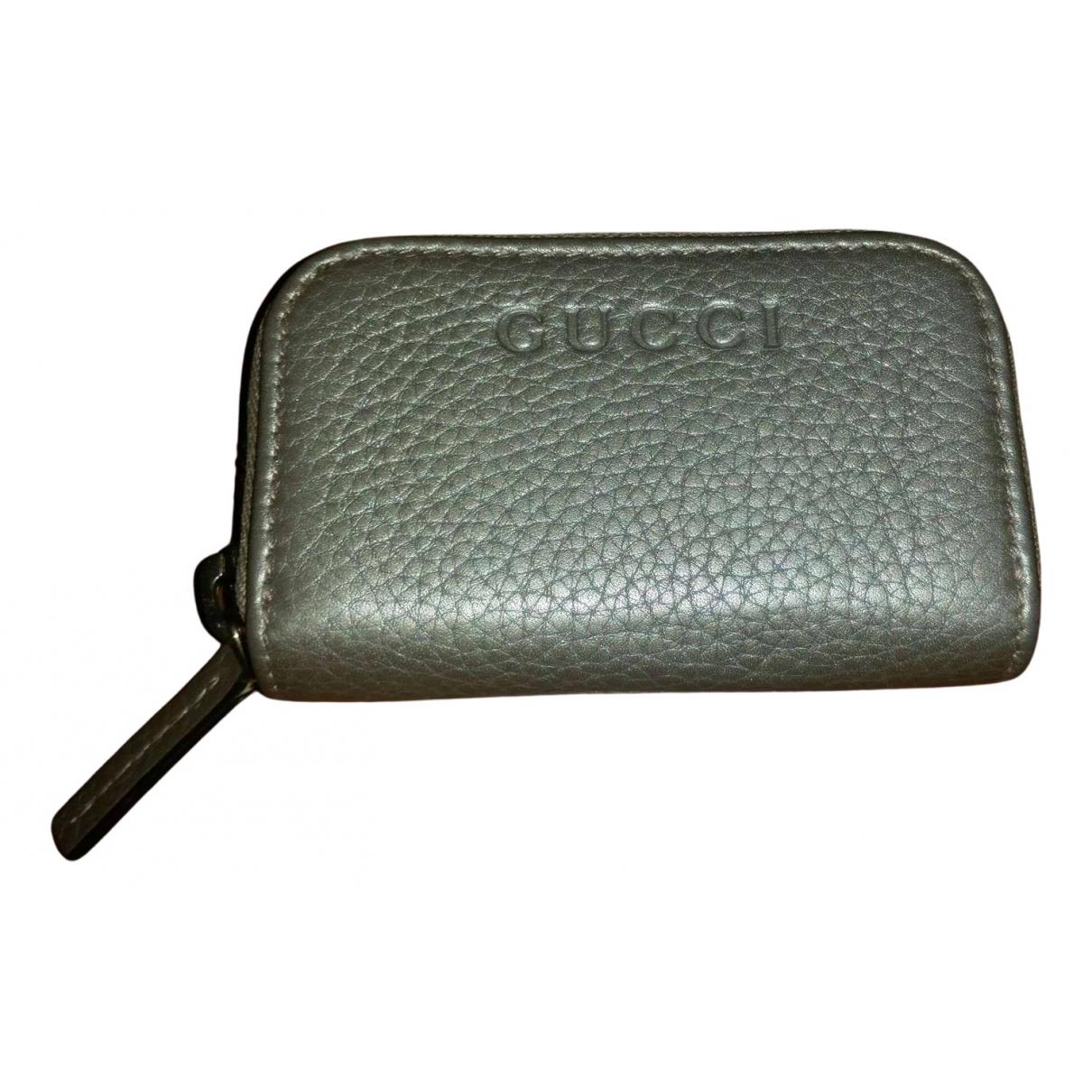 Gucci - Petite maroquinerie   pour femme en cuir - dore