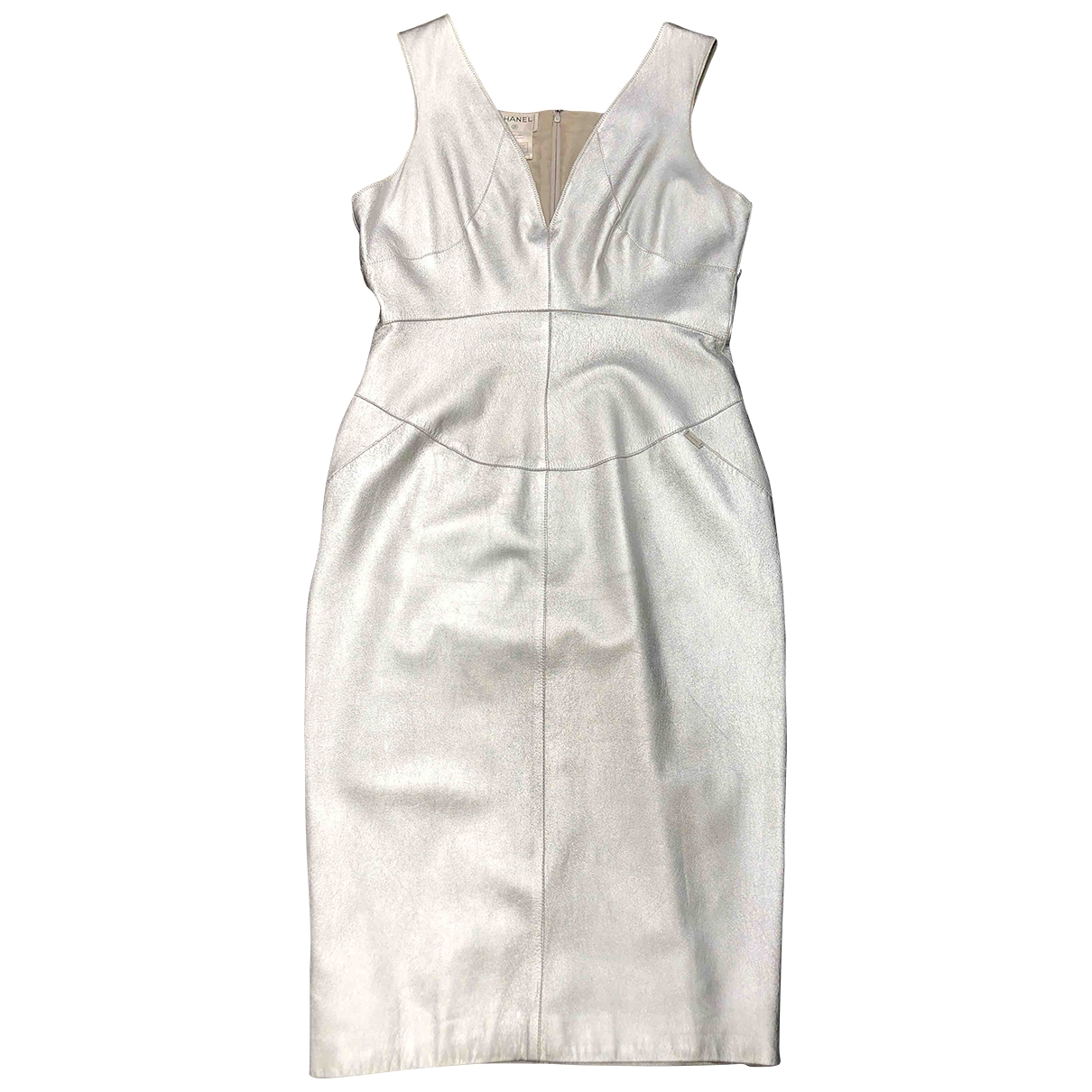 Chanel \N Silver Leather dress for Women 38 FR