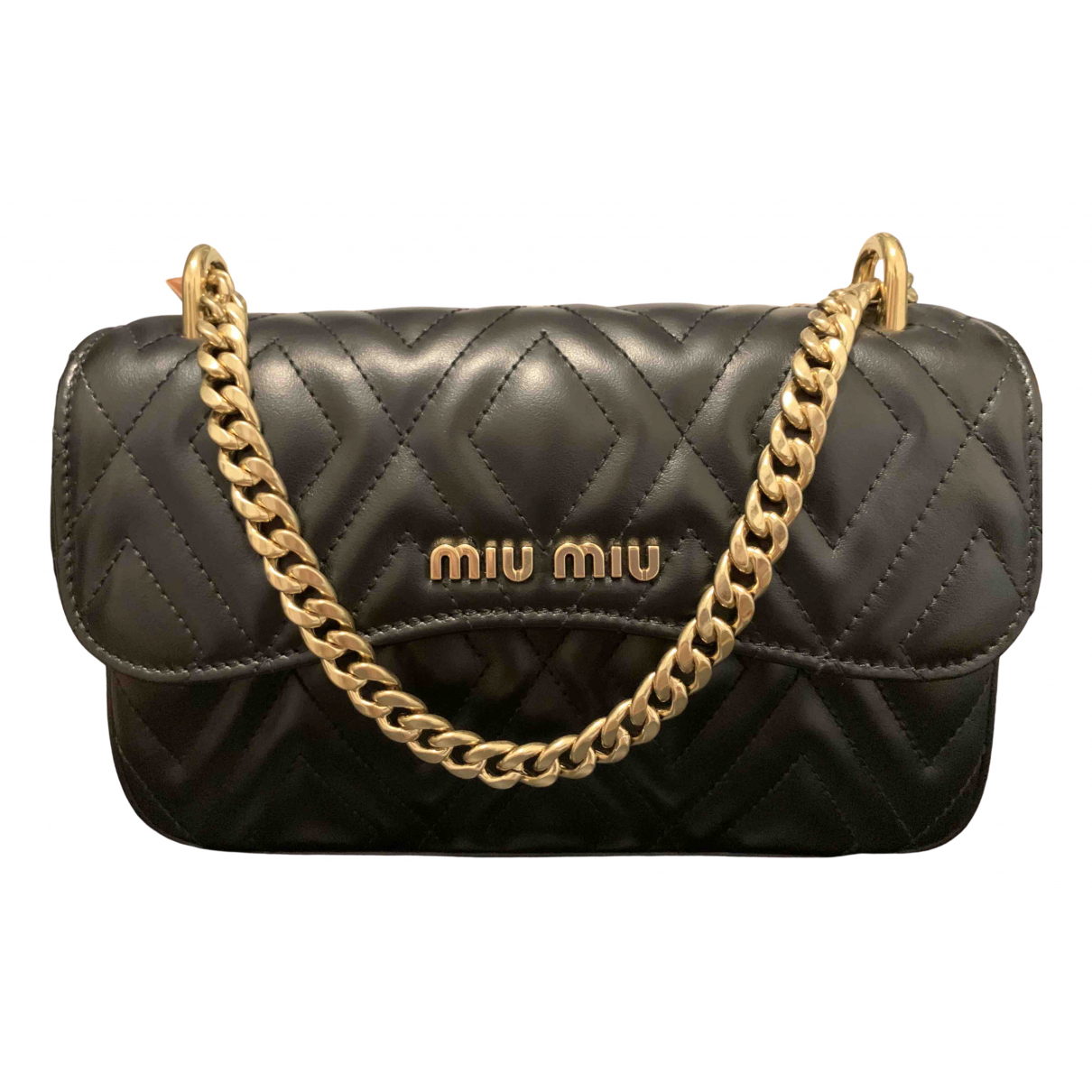 Miu Miu Miu delice Black Leather handbag for Women \N