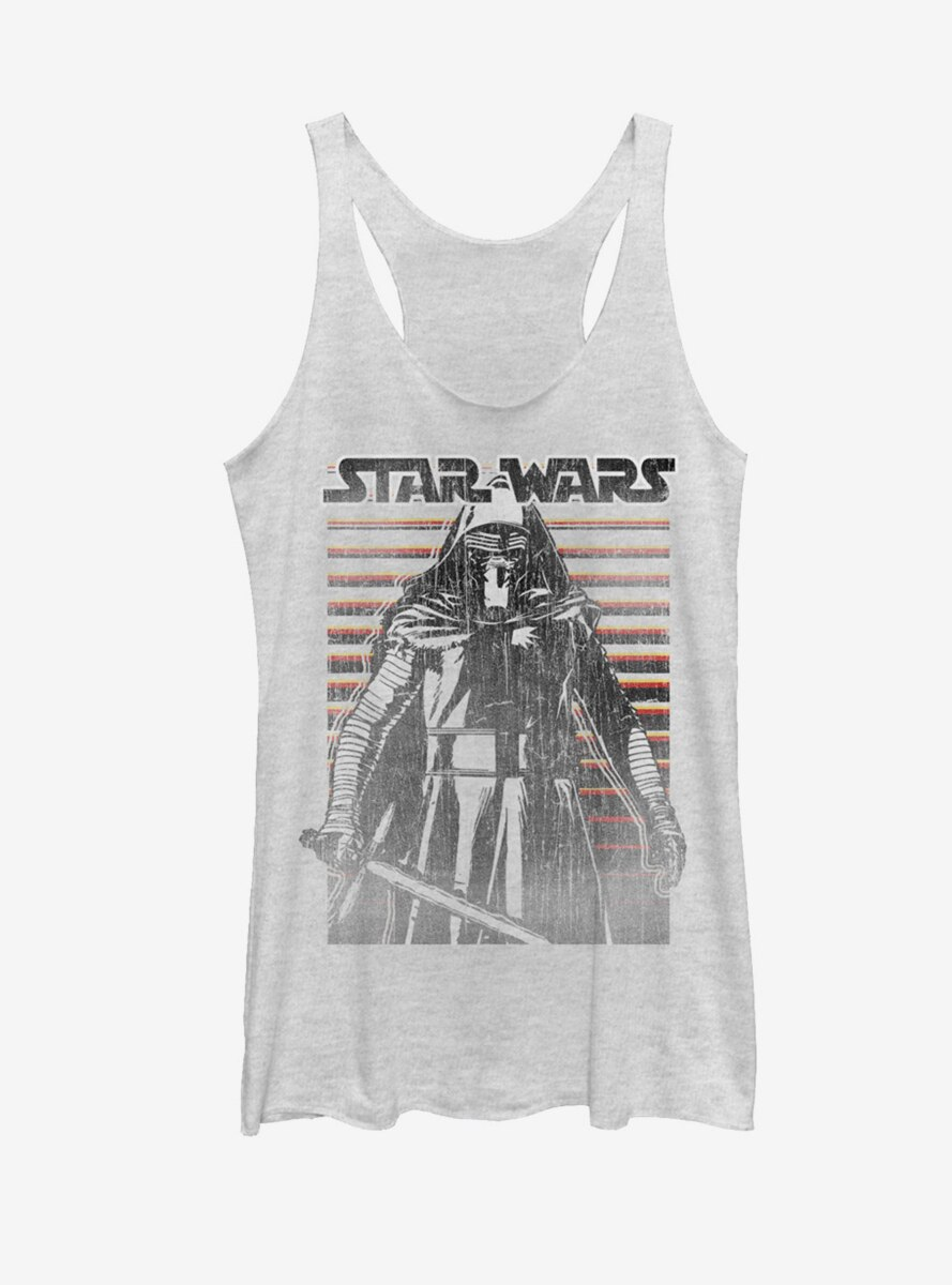 Star Wars The Force Awakens Kylo Ren Distressed Womens Tank