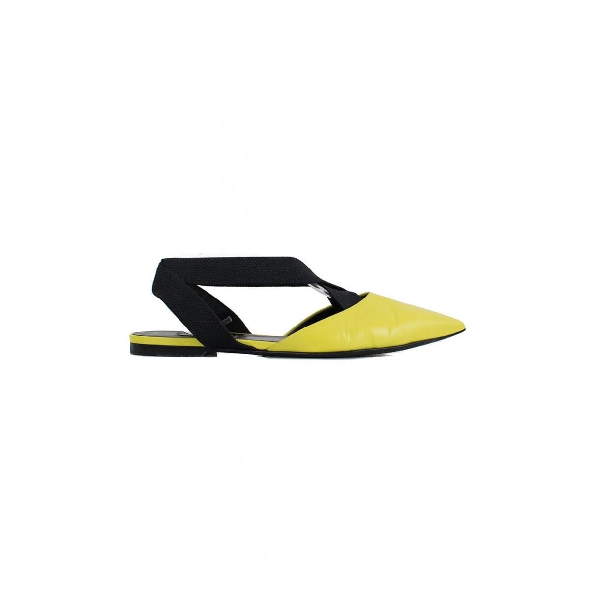 Balenciaga \N Yellow Leather Flats for Women 36.5 EU
