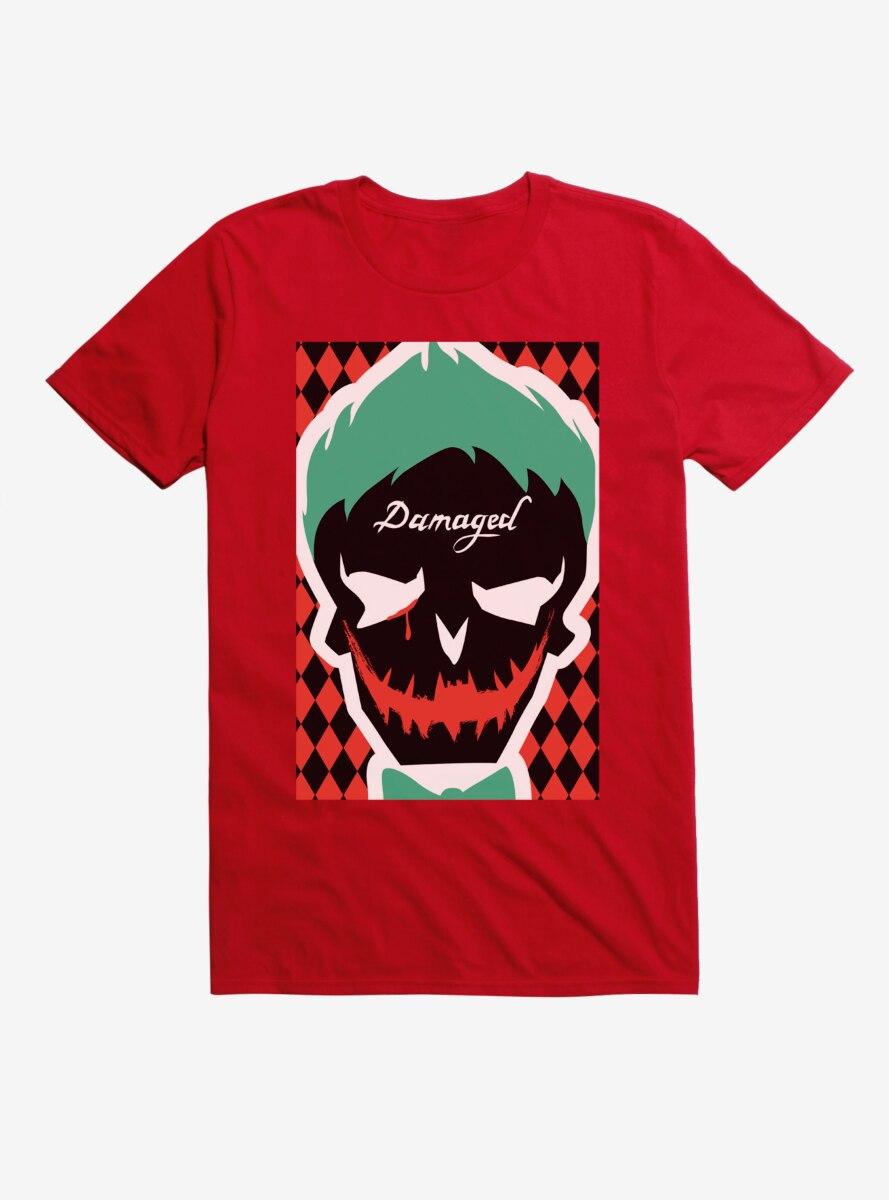DC Comics Suicide Squad Joker Mask Contrast T-Shirt