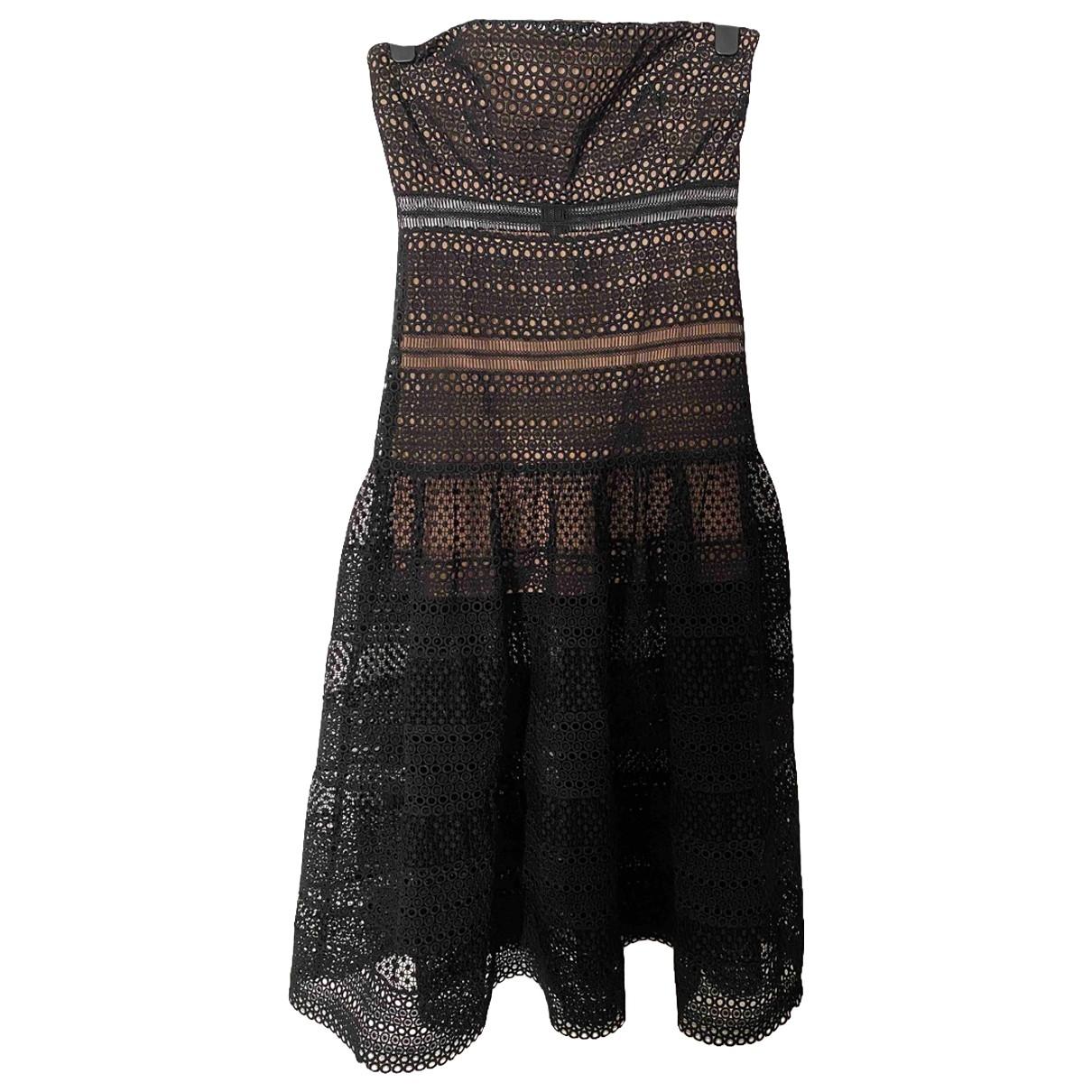 Self Portrait \N Black Lace dress for Women 14 UK
