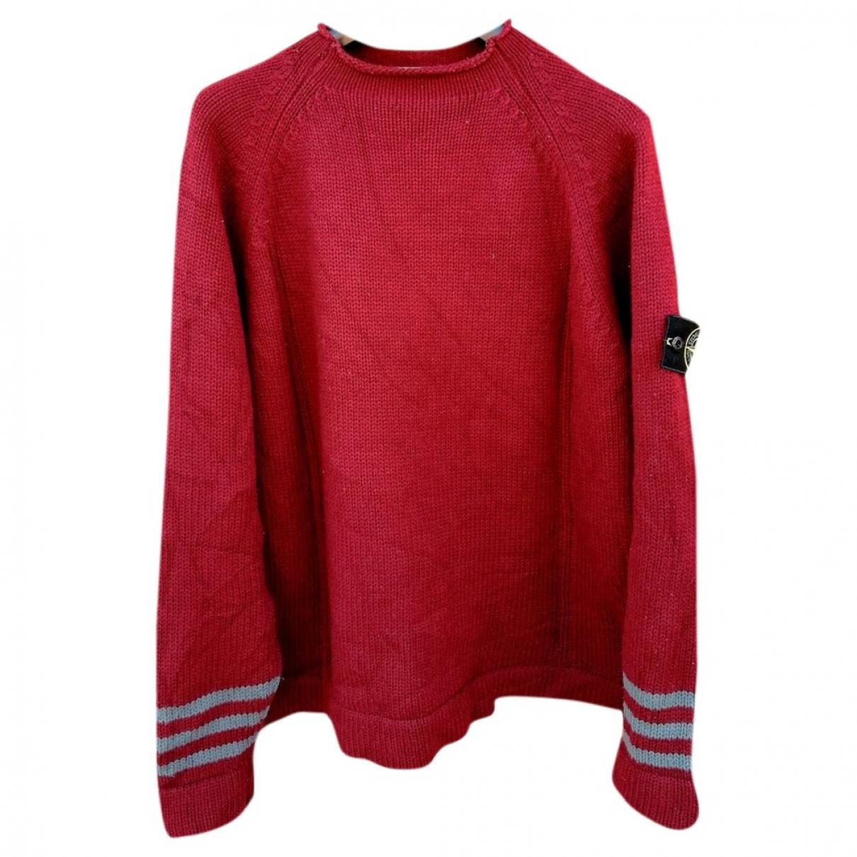 Stone Island \N Pullover.Westen.Sweatshirts  in  Rot Wolle