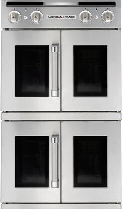 AROFFG-230-N 30 Legacy Series Stainless Steel French Door Natural Gas Double Wall Oven with 9.4 cu. ft. Total Capacity  Innovection Convection Bake