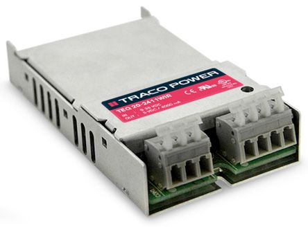 TRACOPOWER TEQ 20WIR 20W Isolated DC-DC Converter Chassis Mount, Voltage in 18 ? 75 V dc, Voltage out 15V dc