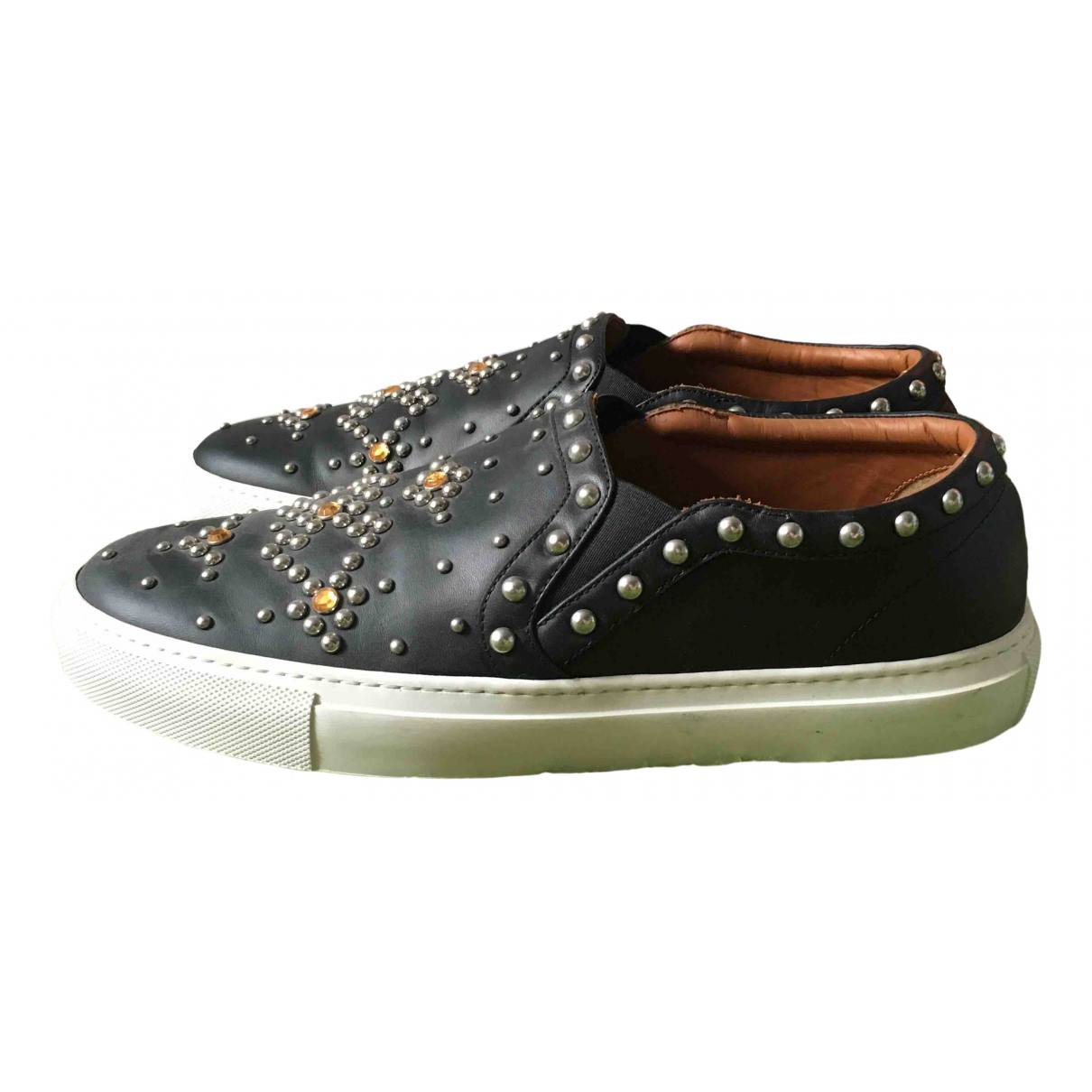 Givenchy \N Black Leather Trainers for Men 41 EU