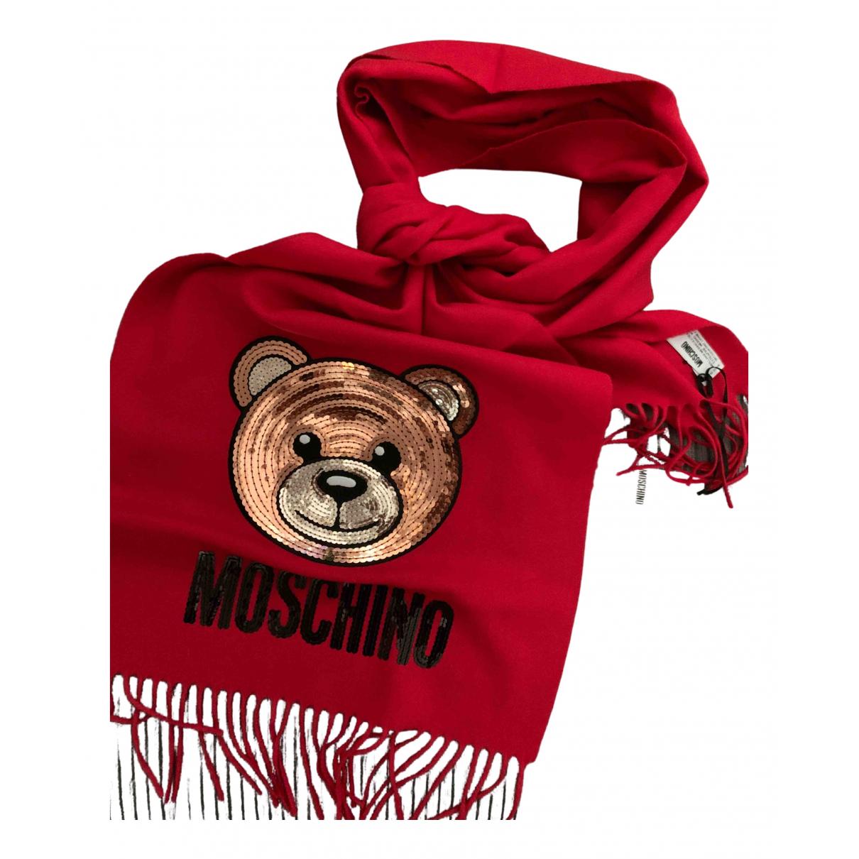 Moschino - Foulard   pour femme en laine - rouge