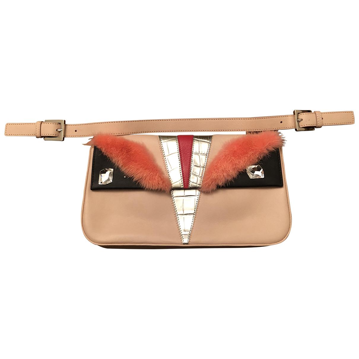 Fendi N Pink Leather Clutch bag for Women N
