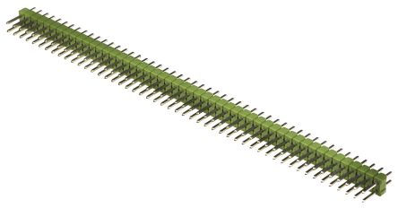 TE Connectivity , AMPMODU MOD II, 100 Way, 2 Row, Straight Pin Header