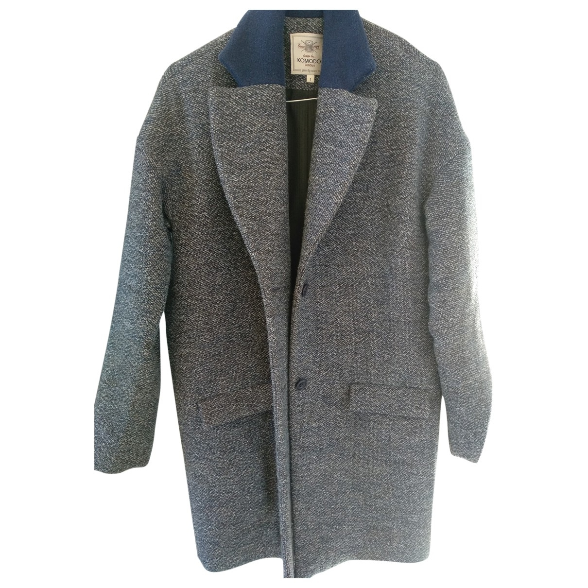 Non Signé / Unsigned \N Blue Wool coat for Women 1 US