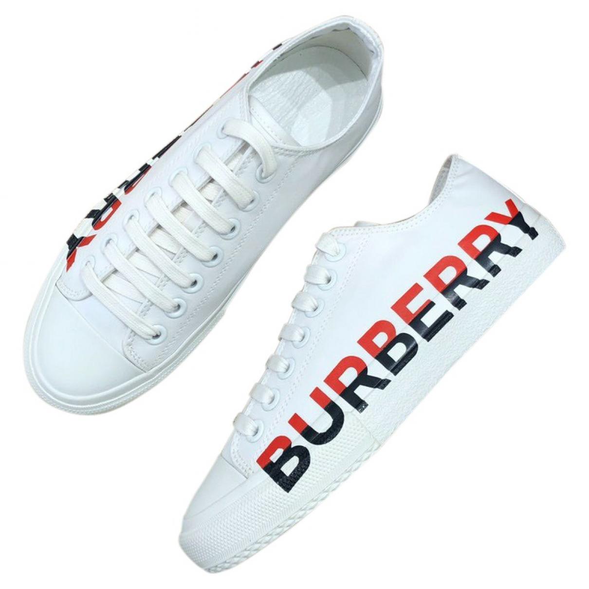 Deportivas de Cuero Burberry