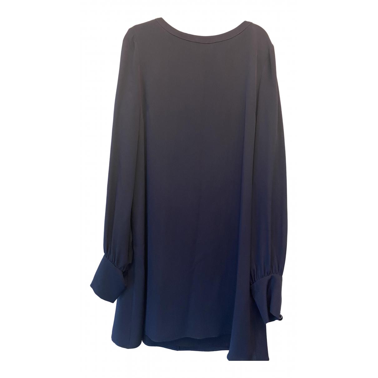 Goat - Robe   pour femme en soie - bleu