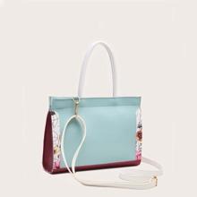Handtasche mit Farbblock
