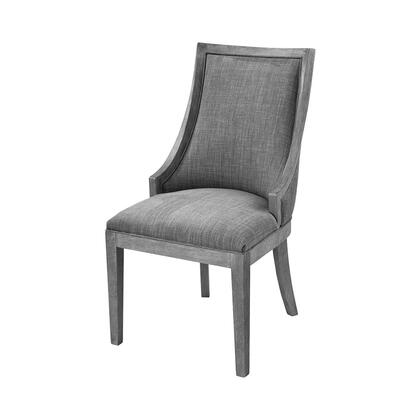1204-062 Cupertino Side Chair  In Reclaimed Grey Wood  Grey