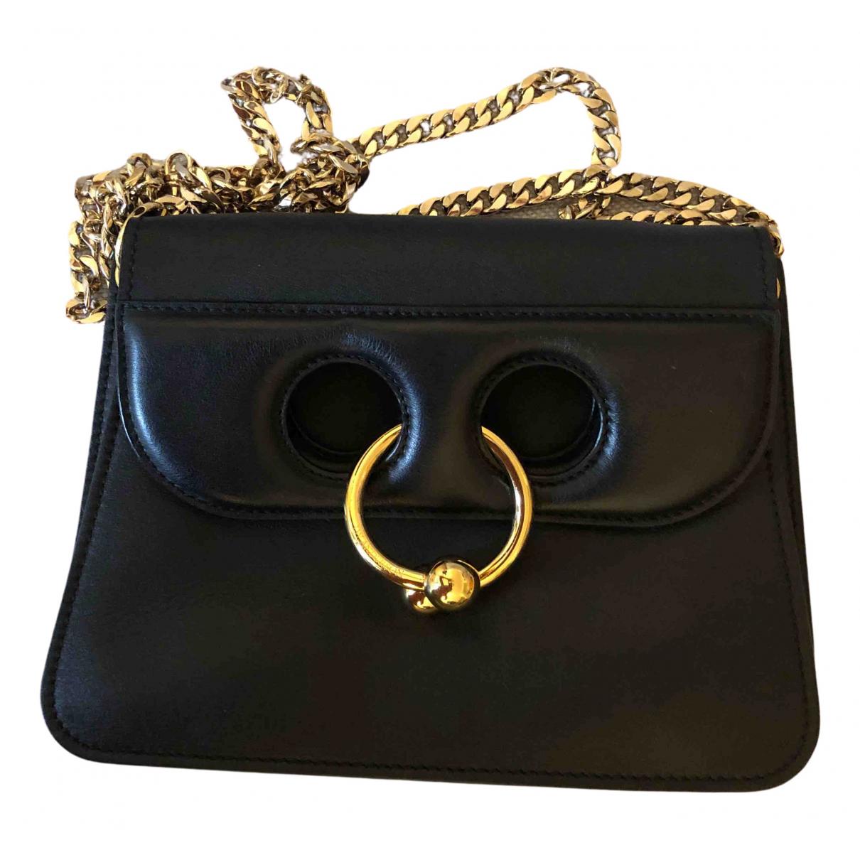 J.w. Anderson Pierce Black Leather handbag for Women N