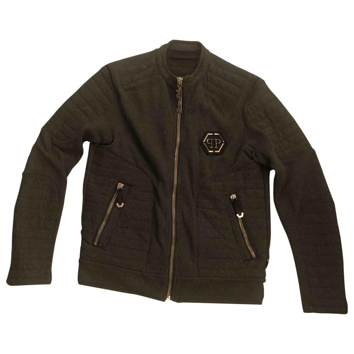 Philipp Plein \N Anthracite Cotton jacket  for Men M International