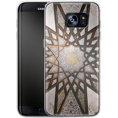 Samsung Galaxy S7 Edge Silikon Handyhuelle - Tile Star von Omid Scheybani