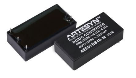 Artesyn AEE15W-M 15W Isolated DC-DC Converter Through Hole, Voltage in 36 → 75 V dc, Voltage out 12V dc Medical