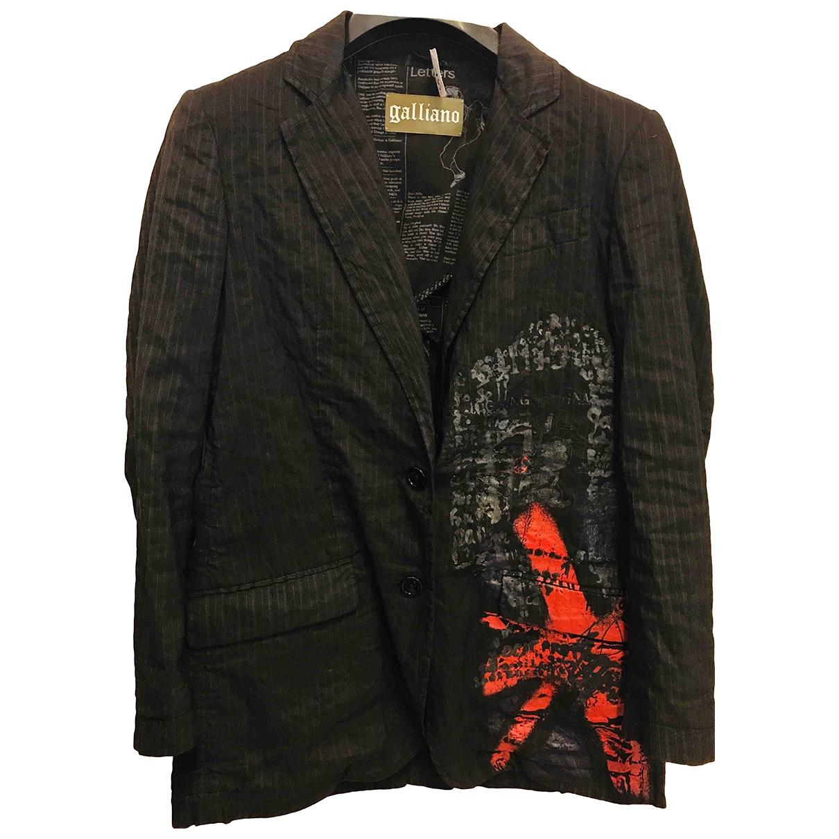 Galliano - Veste   pour femme en coton - noir