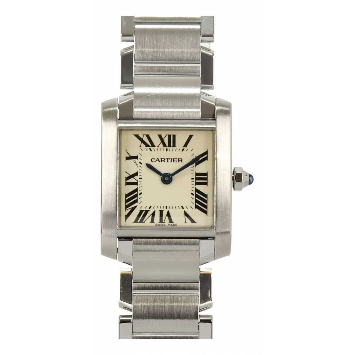 Cartier Tank Francaise Uhr in  Weiss Stahl