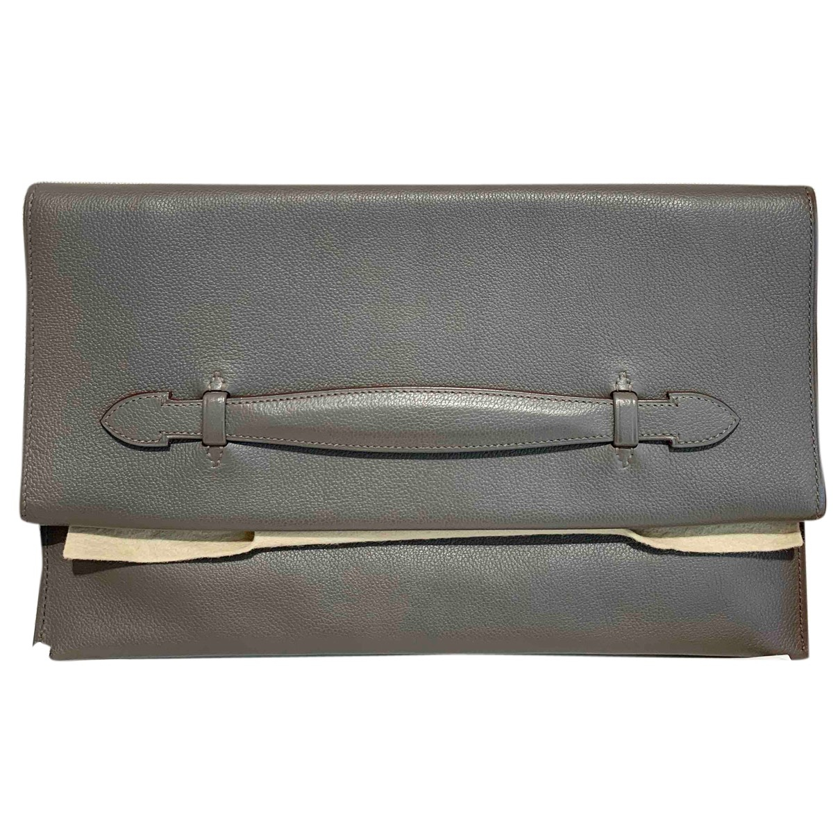 Hermes \N Clutch in  Beige Leder