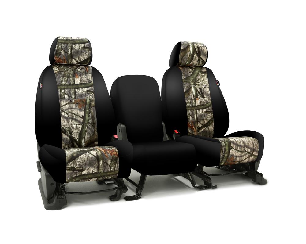Coverking CSC2MO03CH9659 Skanda Custom Seat Covers 1 Row Neosupreme Mossy Oak Treestand with Black Sides Rear Chevrolet Silverado 2500 | 3500 HD 2015-