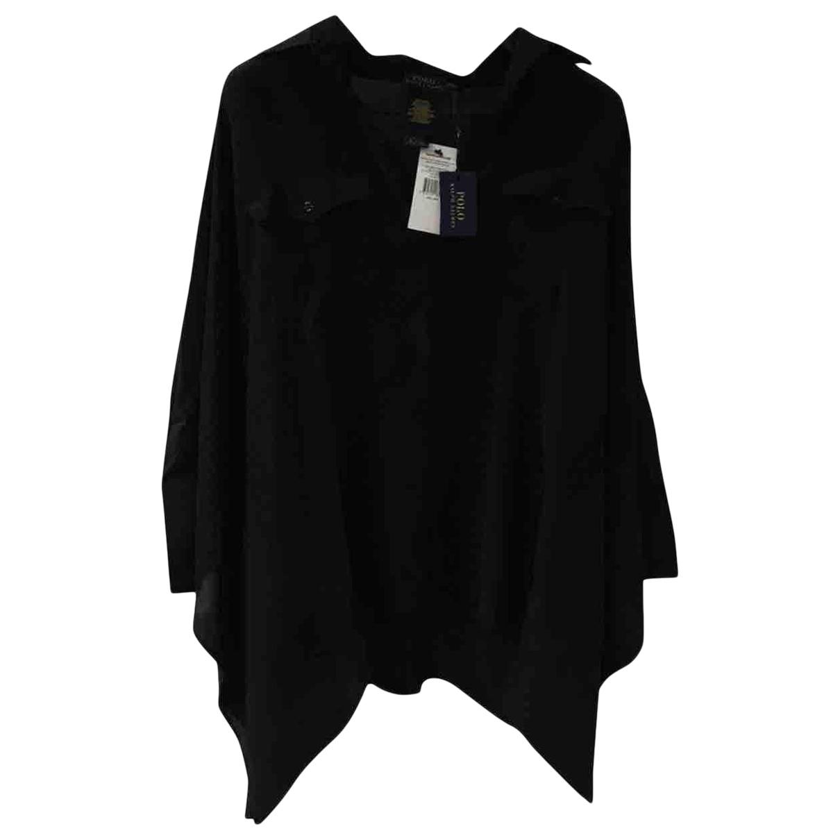 Polo Ralph Lauren - Top   pour femme en soie - noir