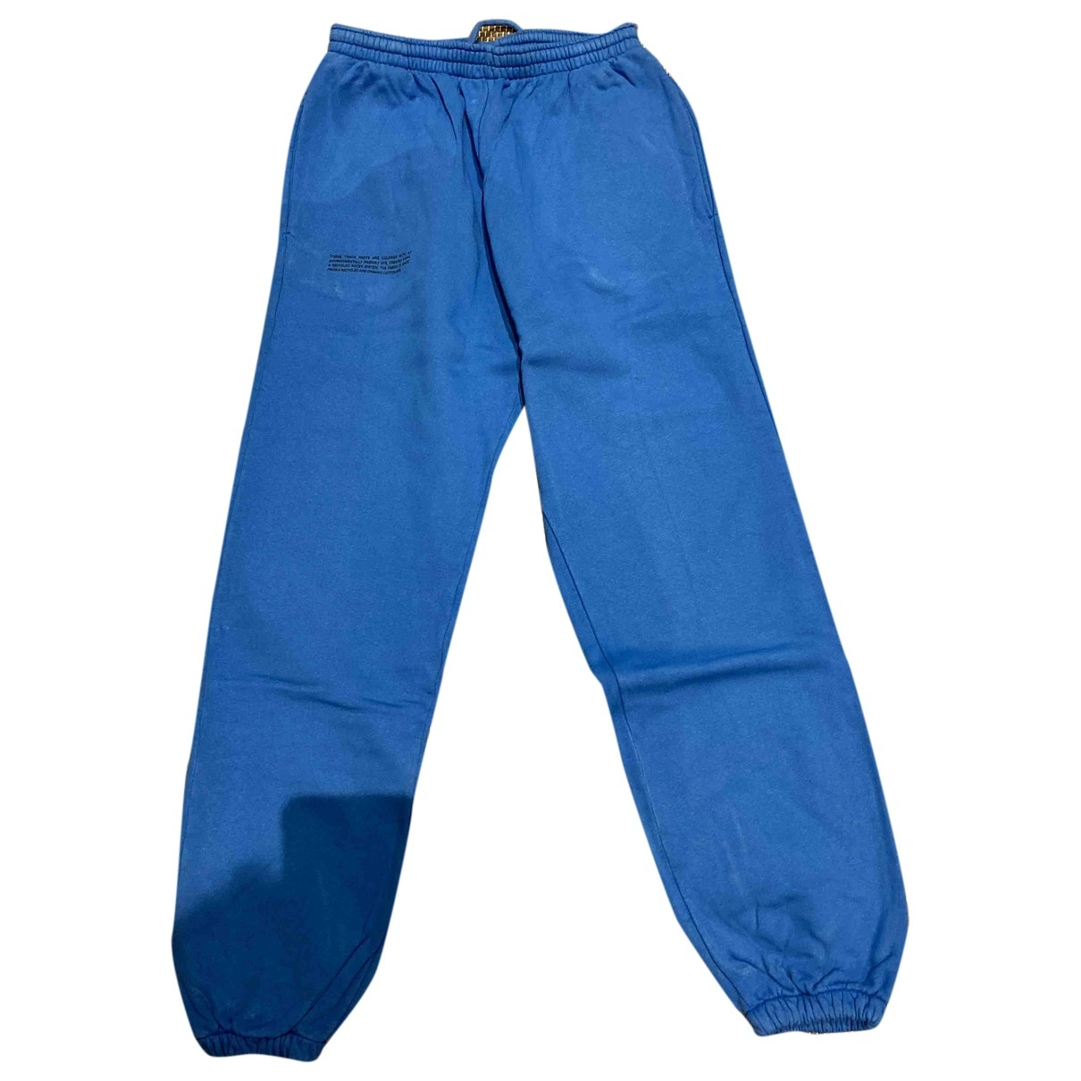 The Pangaia \N Blue Cotton Trousers for Women S International
