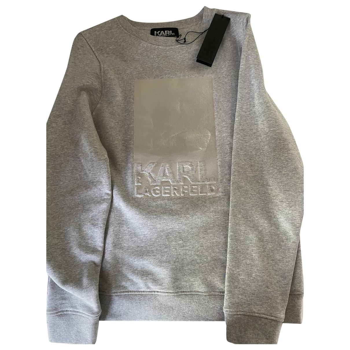 Karl Lagerfeld \N Grey Cotton Knitwear for Women XS International