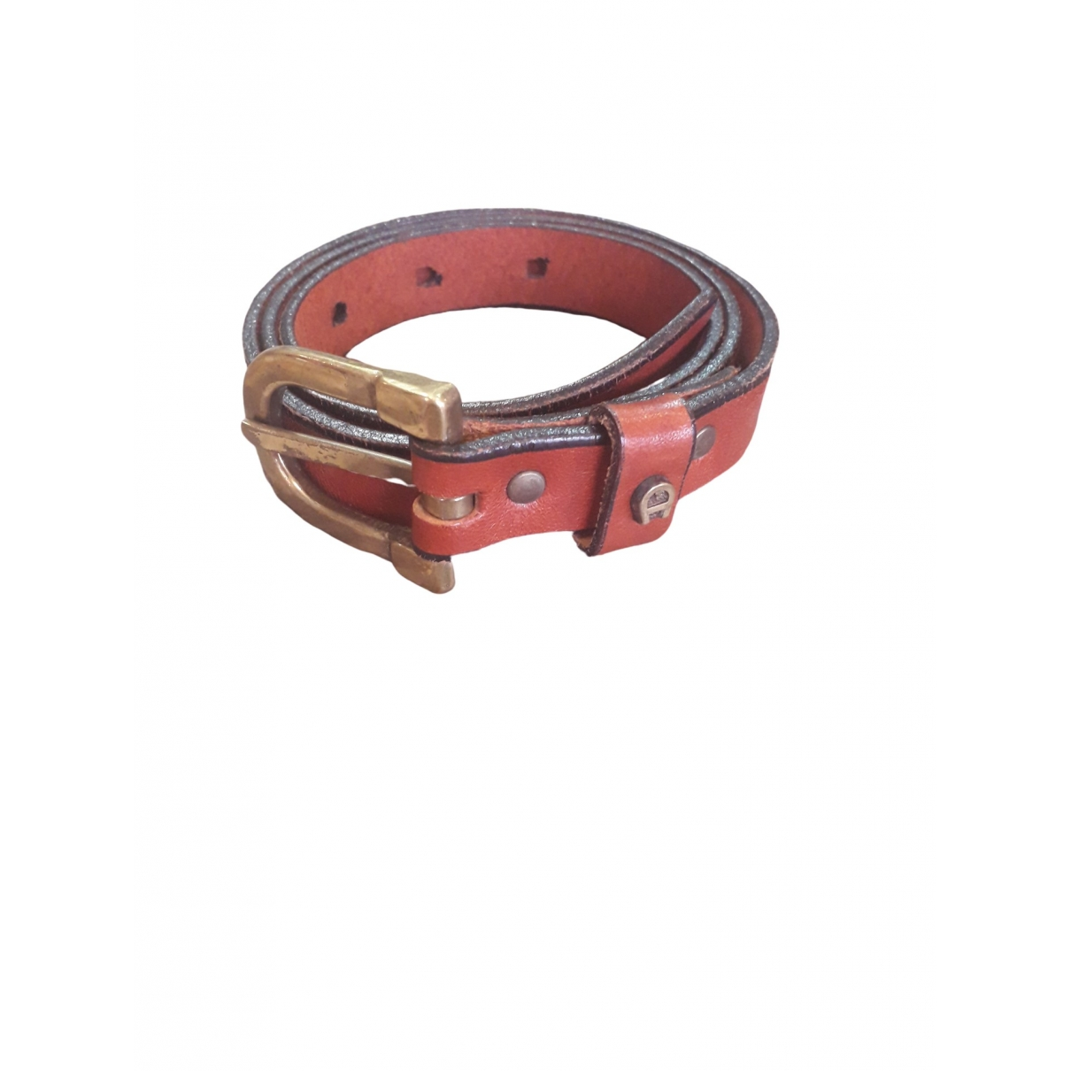 Aigner \N Brown Leather belt for Women 75 cm