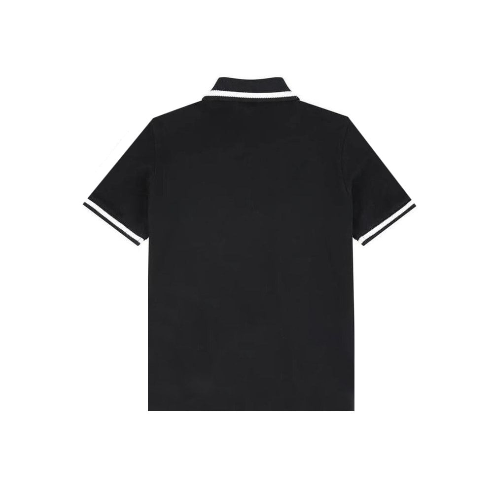 Dolce & Gabbana Cotton Polo Colour: BLACK, Size: 10 YEARS