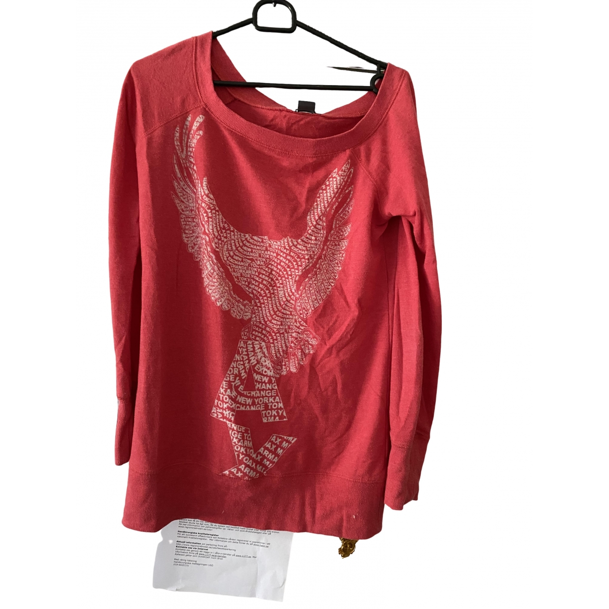 Emporio Armani \N Red Cotton  top for Women 38 FR
