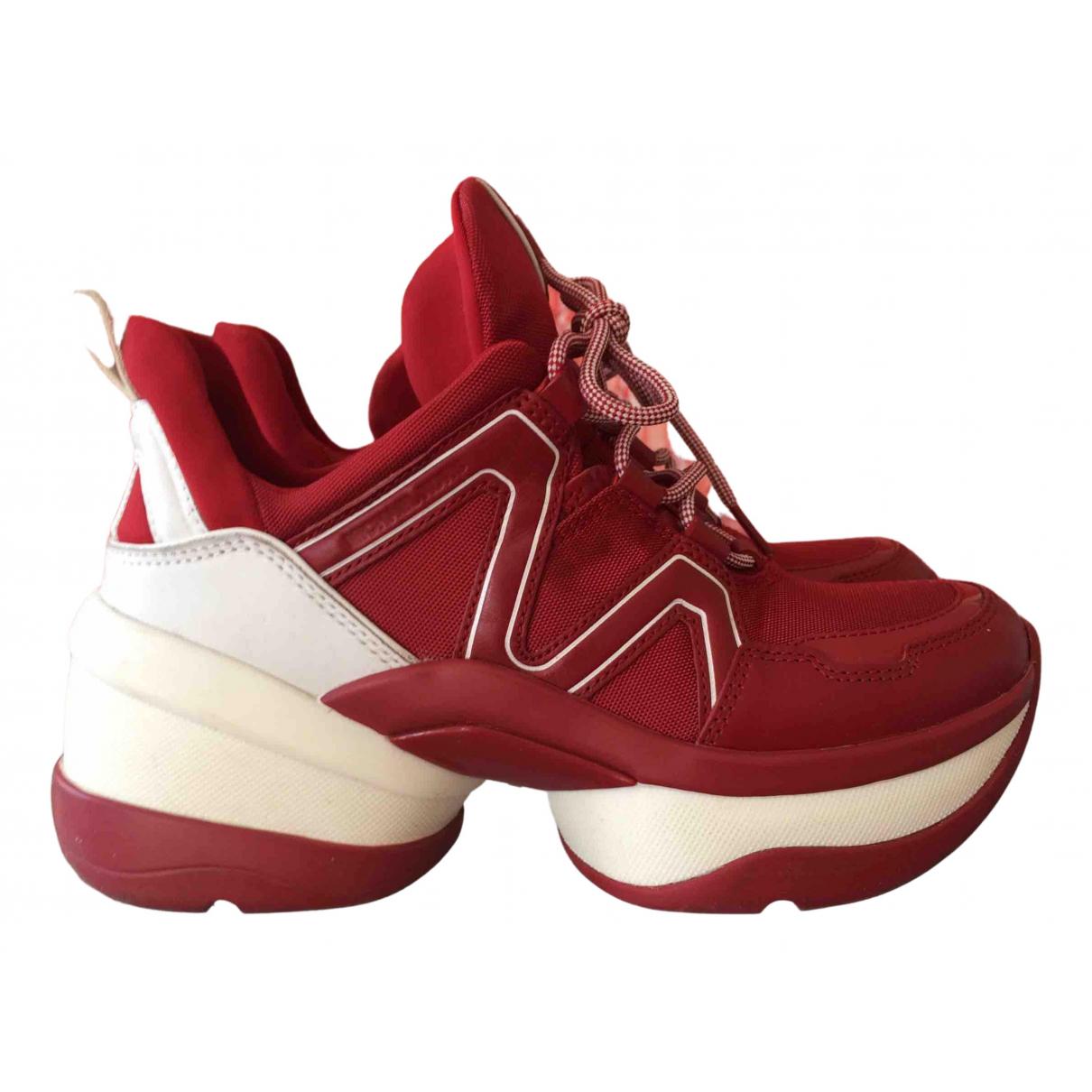 Michael Kors \N Sneakers in  Rot Polyester