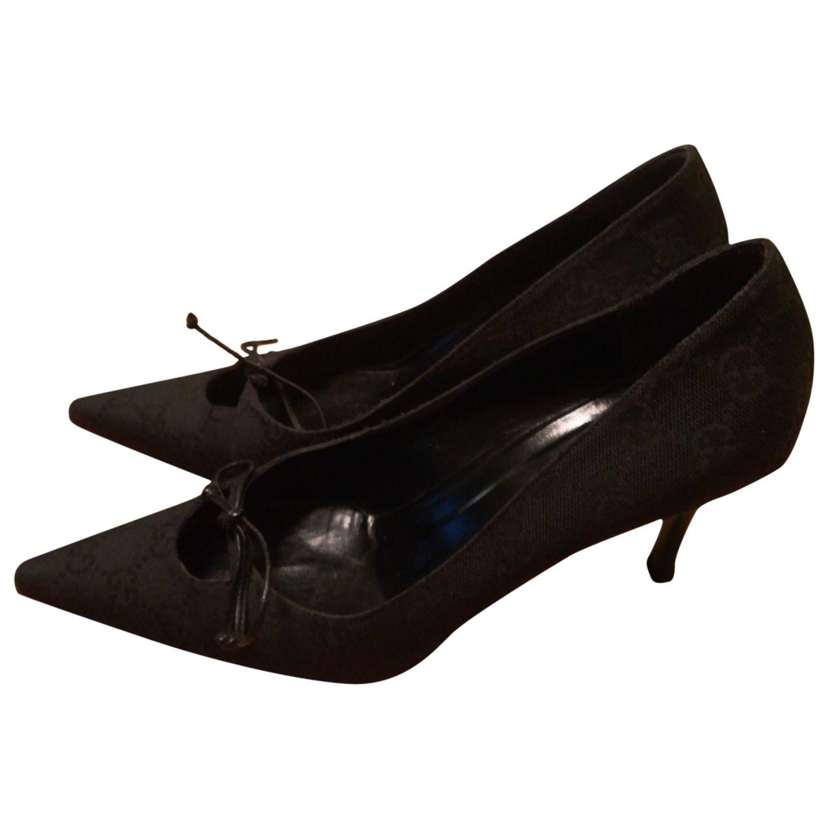 Gucci \N Black Cloth Heels for Women 36.5 EU