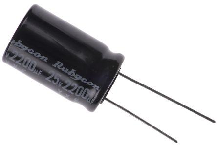 Rubycon 2200μF Electrolytic Capacitor 25V dc, Through Hole - 25YXF2200M16X25 (5)