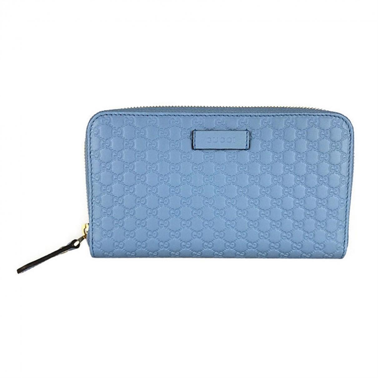 Gucci \N Portemonnaie in  Blau Leder