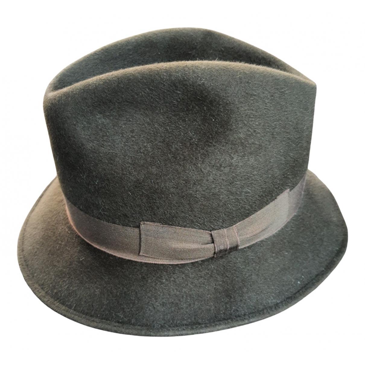 Borsalino - Chapeau & Bonnets   pour homme en laine - kaki