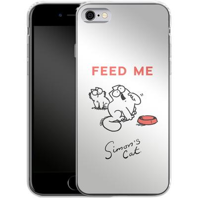 Apple iPhone 6 Silikon Handyhuelle - Feed Me von Simons Cat