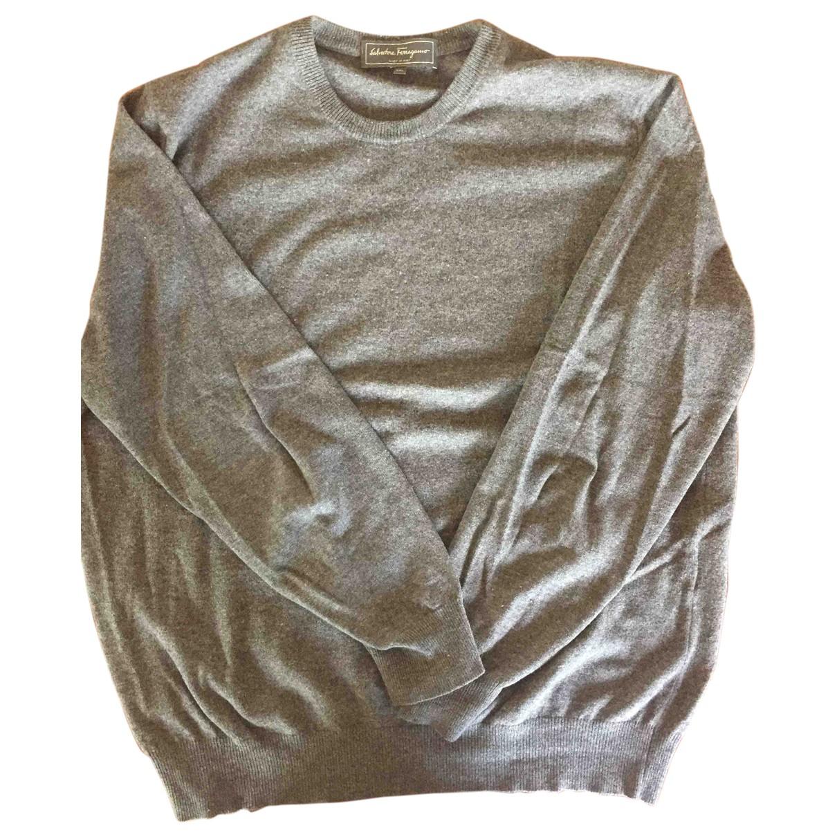 Salvatore Ferragamo \N Pullover.Westen.Sweatshirts  in  Grau Wolle