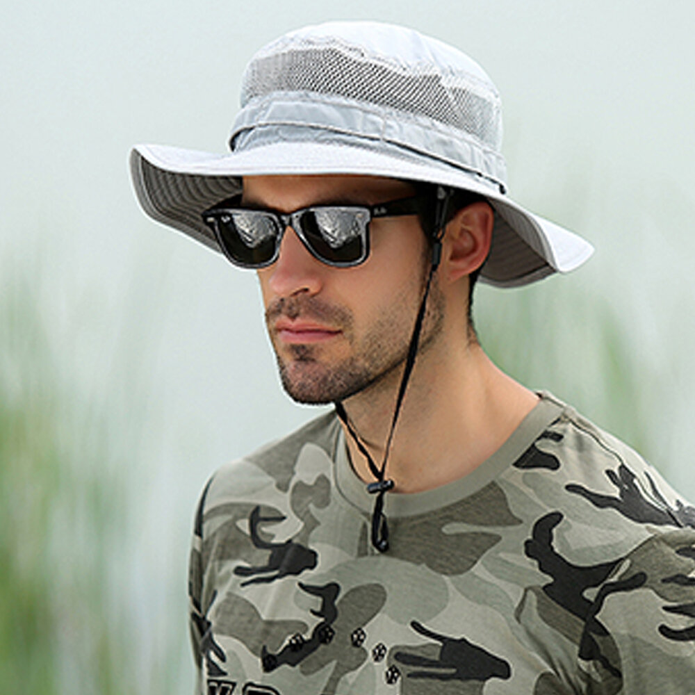 Men's Sun Hats Cover The Face And UV Protection Bucket Hat Mountaineering Outdoor Fisherman Hats