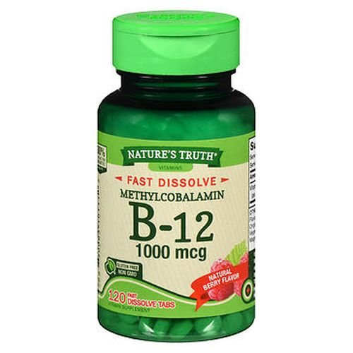 Natures Truth B12 Fast Dissolve Tabs Natural Berry Flavor 120 Tabs by Natures Truth